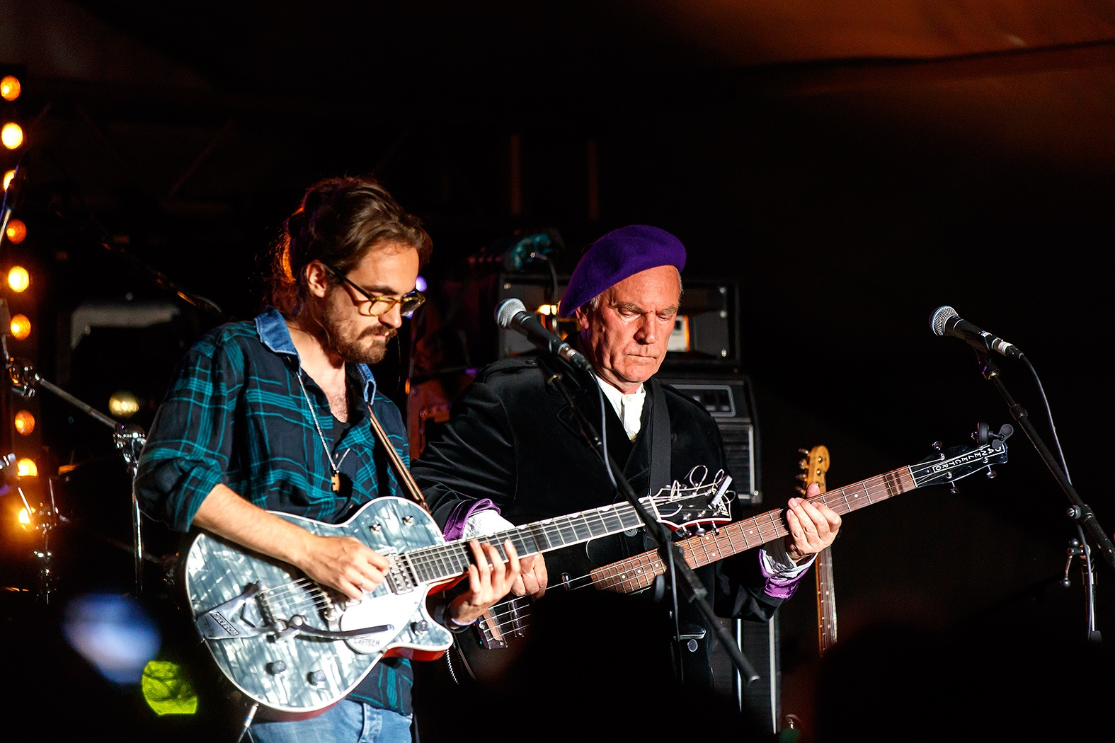 ASHLEY Hutchings, right, and Blair Dunlop perform with Dylancentric at Million Dollar Bash.