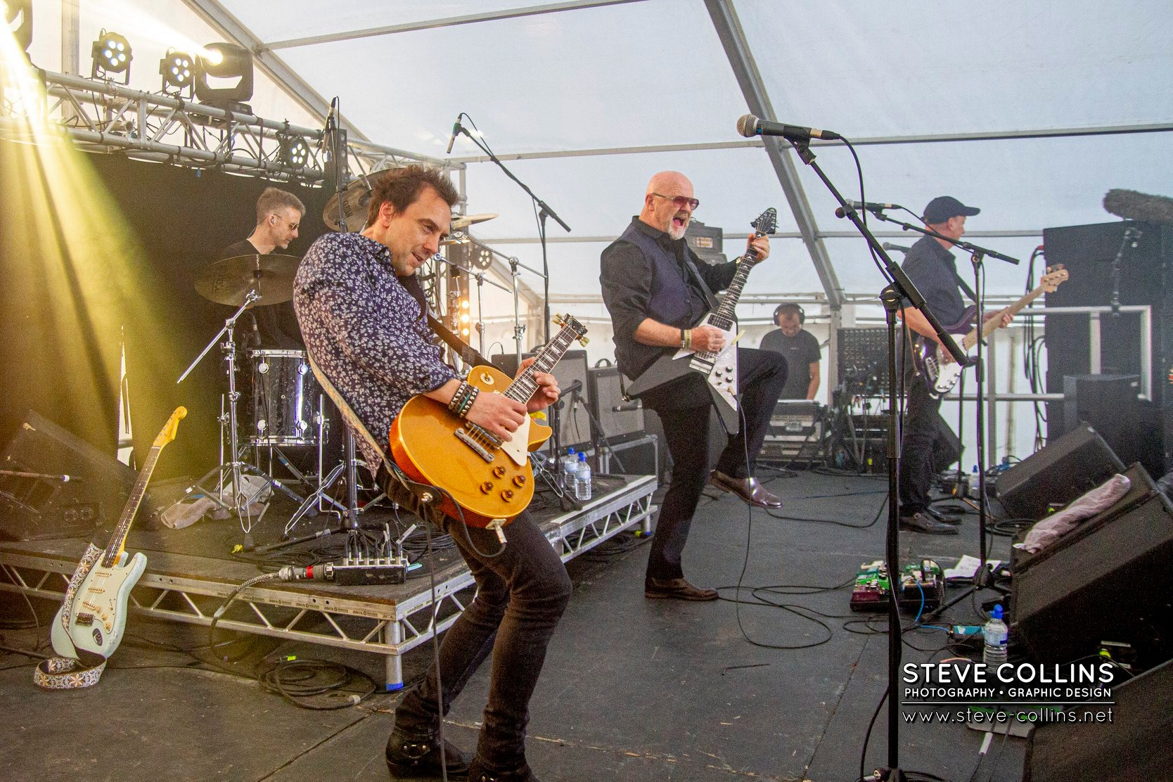 Wishbone Ash made the Bash their only UK festival in 2019...their own 50th anniversary year. Photo courtesy of Steve Collins.