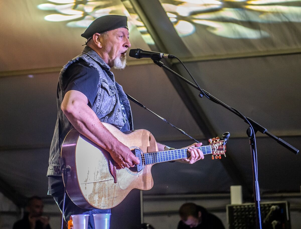 Richard Thompson, back on the IoW for the first time since 1968. Picture: Chris Cornford.