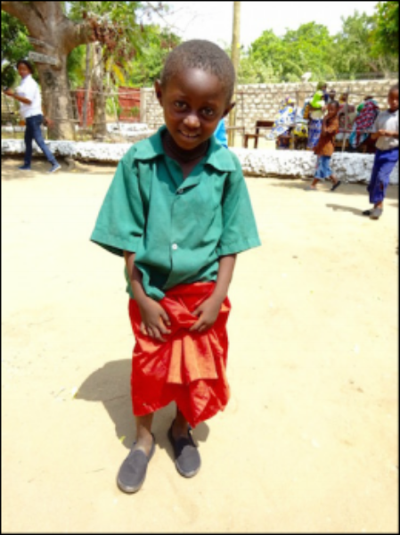 All children get shoes to protect them from further infections.