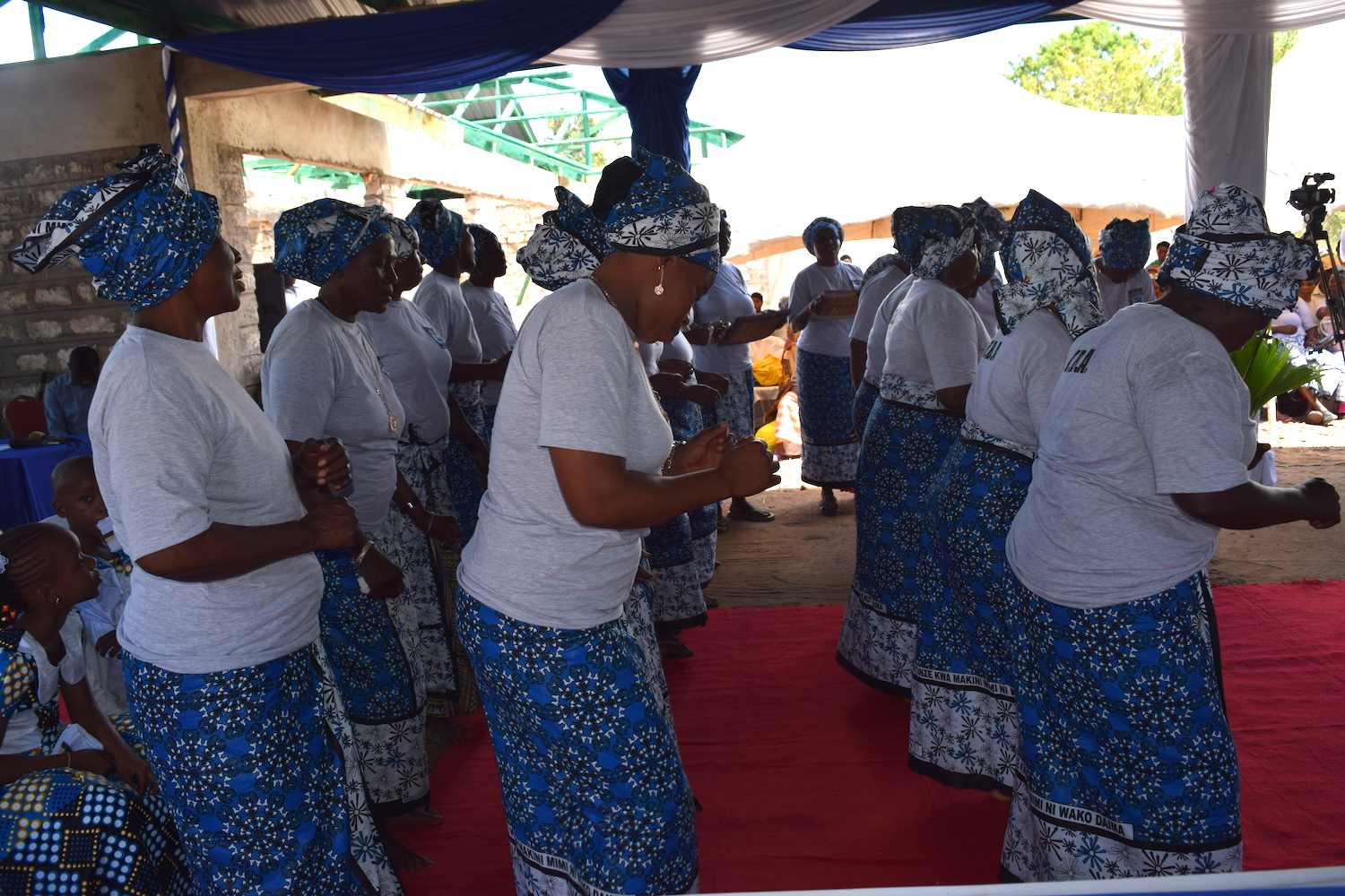 The traditional birth attendants performed a dance at the celebration