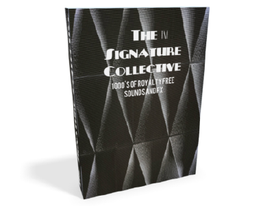 The Signature Collective. - 1000's of royalty free music samples, sound effects, soundscapes, field recording, royalty free music and sound atmospheres are included in this one for all mega pack for only 1.99£.