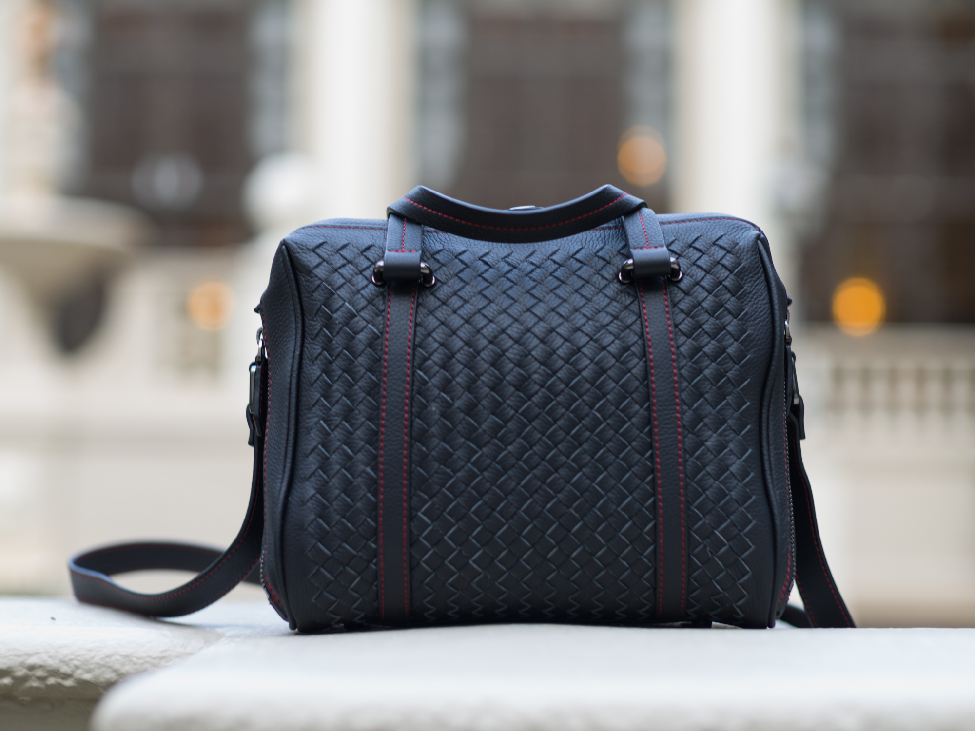 hand woven leather leica camera bag stylish