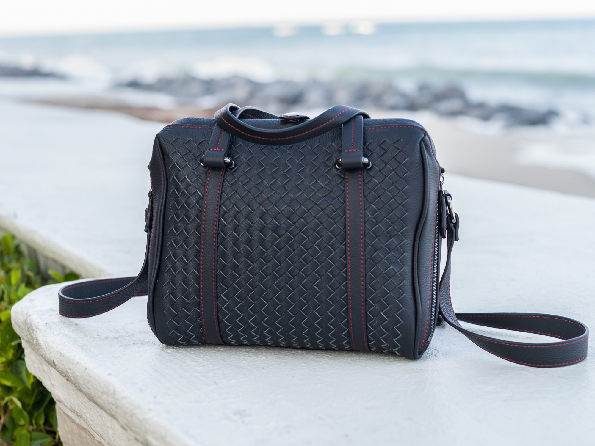 leica camera bag leather quilted