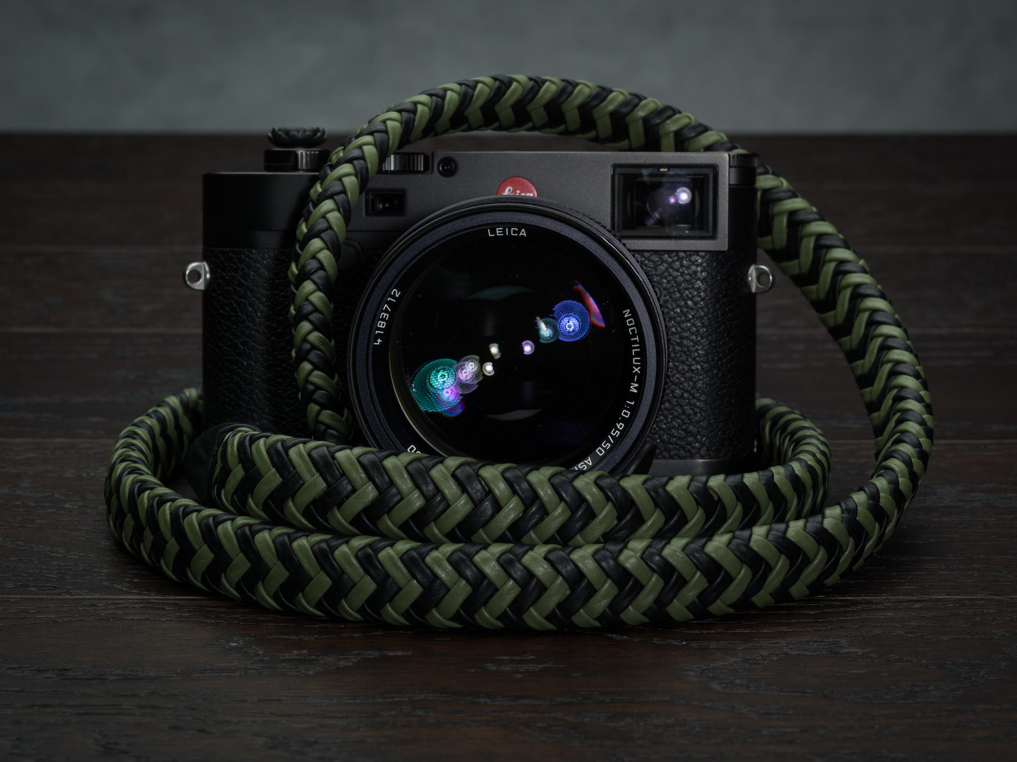 Vi Vante Matador Green Arrow Braided Luxury Leather Camera Strap Leica M10 Noctilux 2.jpg