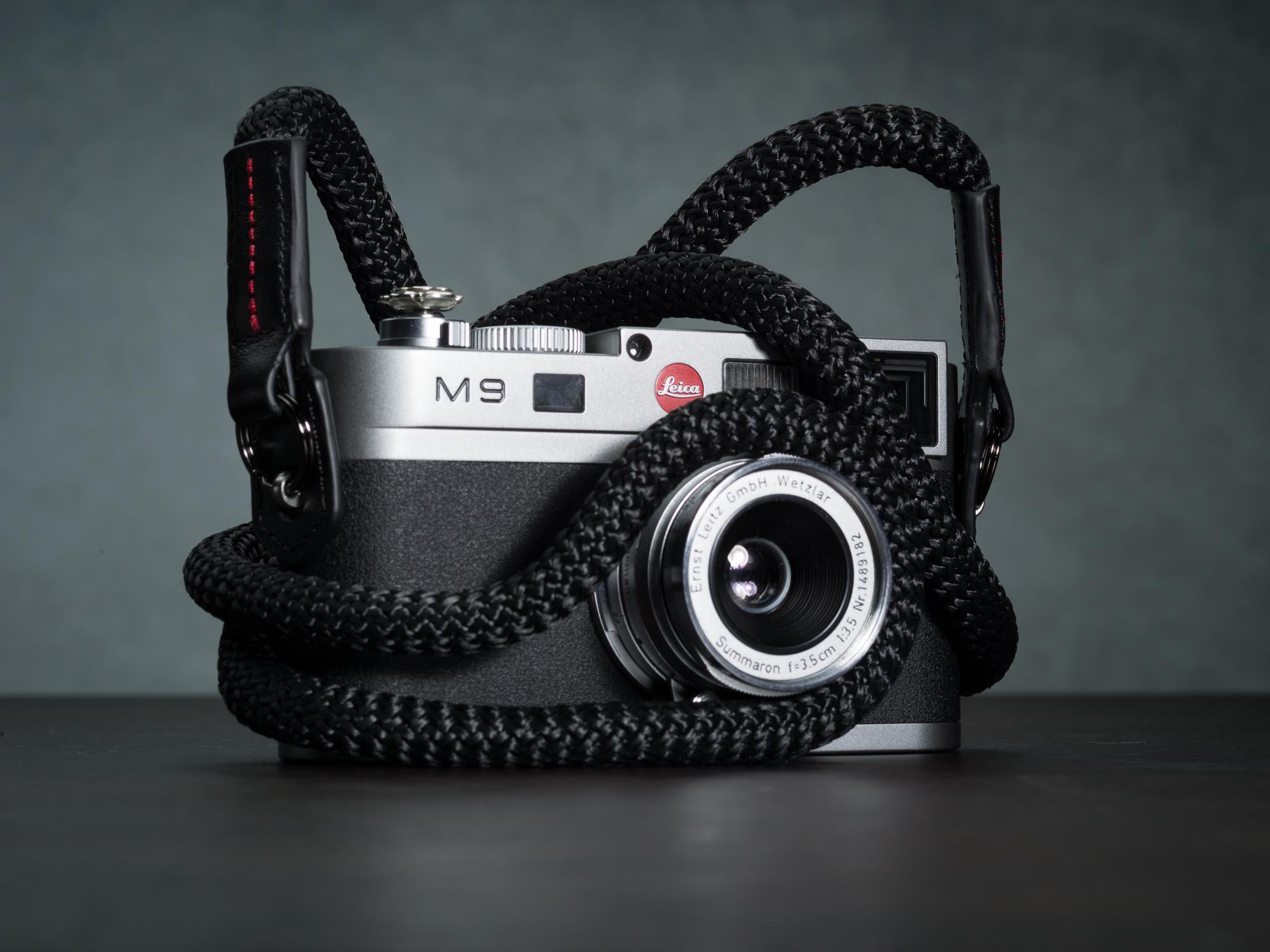 Vi vante black sheetline rope camera strap Leica M9 4.jpg