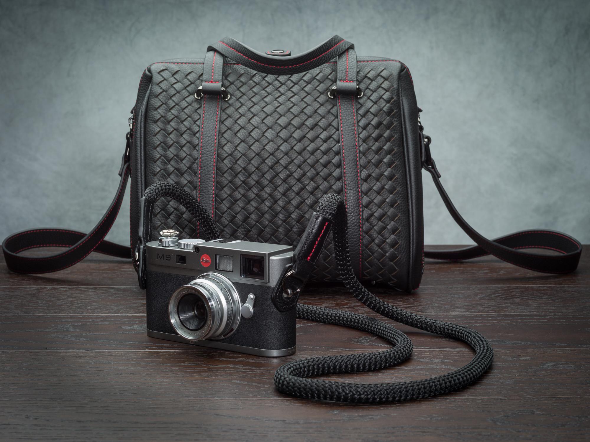 Vi vante black sheetline rope camera strap Leica M9 Calibre Bag  2.jpg