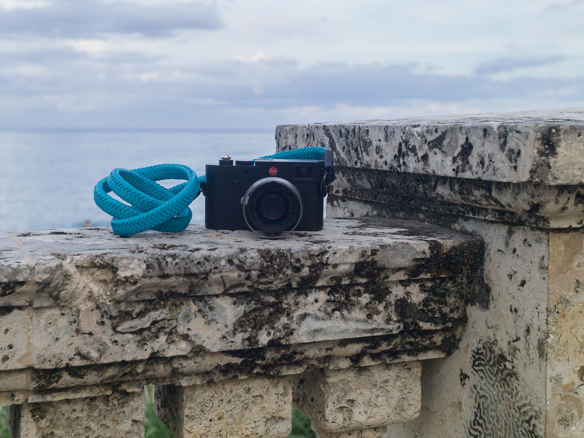 Vi Vante Matador miami blue braided leather camera strap 2.jpg