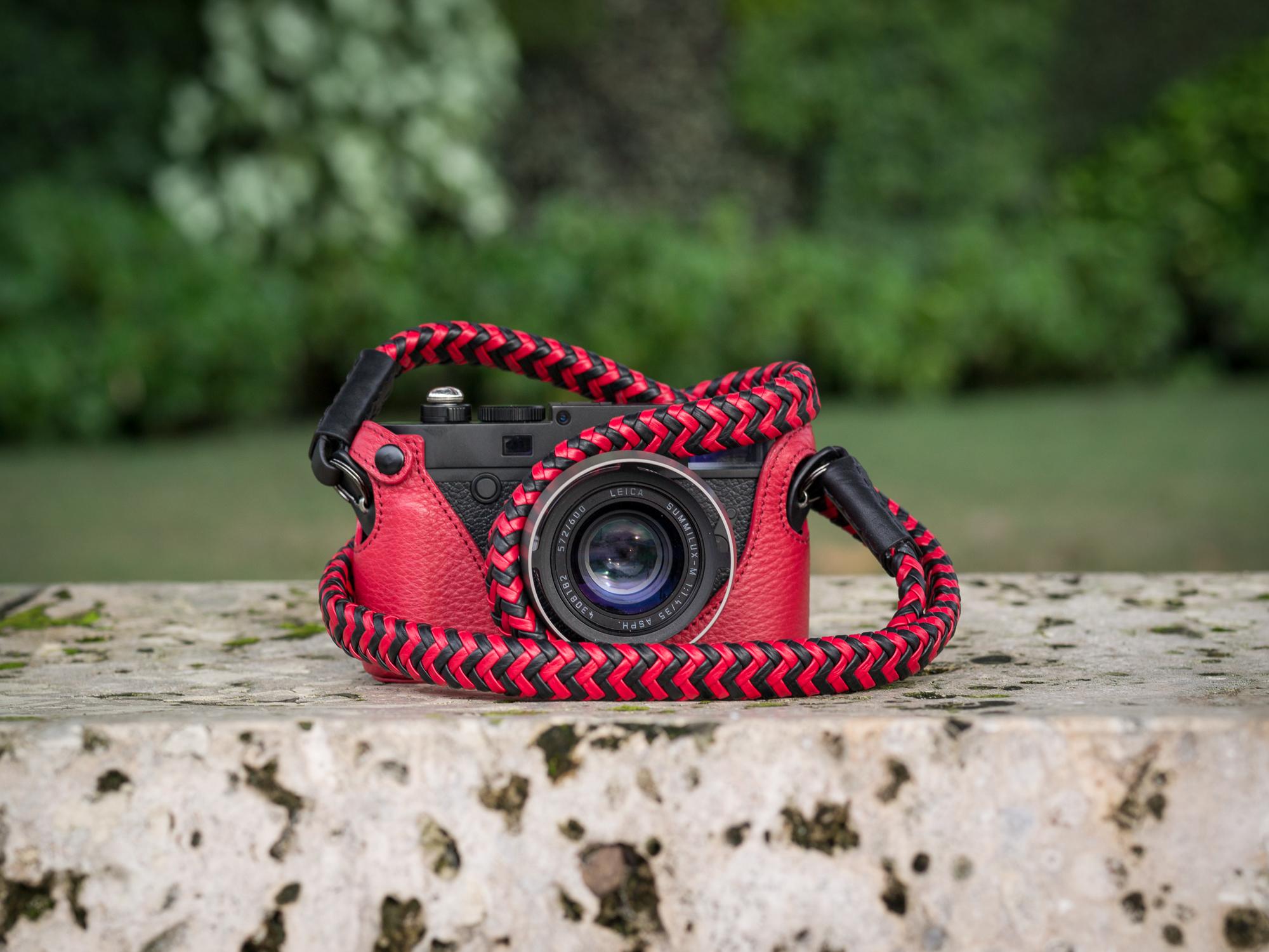 Vi Vante Matador phoenix braided leather camera strap leica m10.jpg