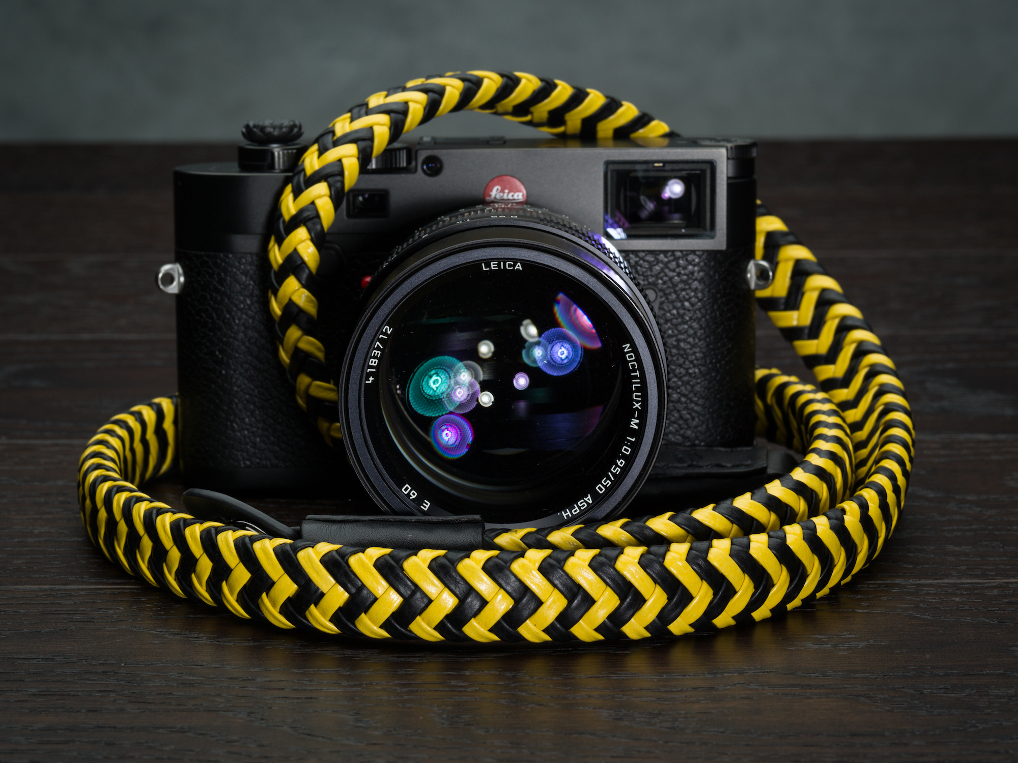 Vi Vante Matador Batman Braided Luxury Leather Camera Strap Leica M10 Noctilux 1.jpg