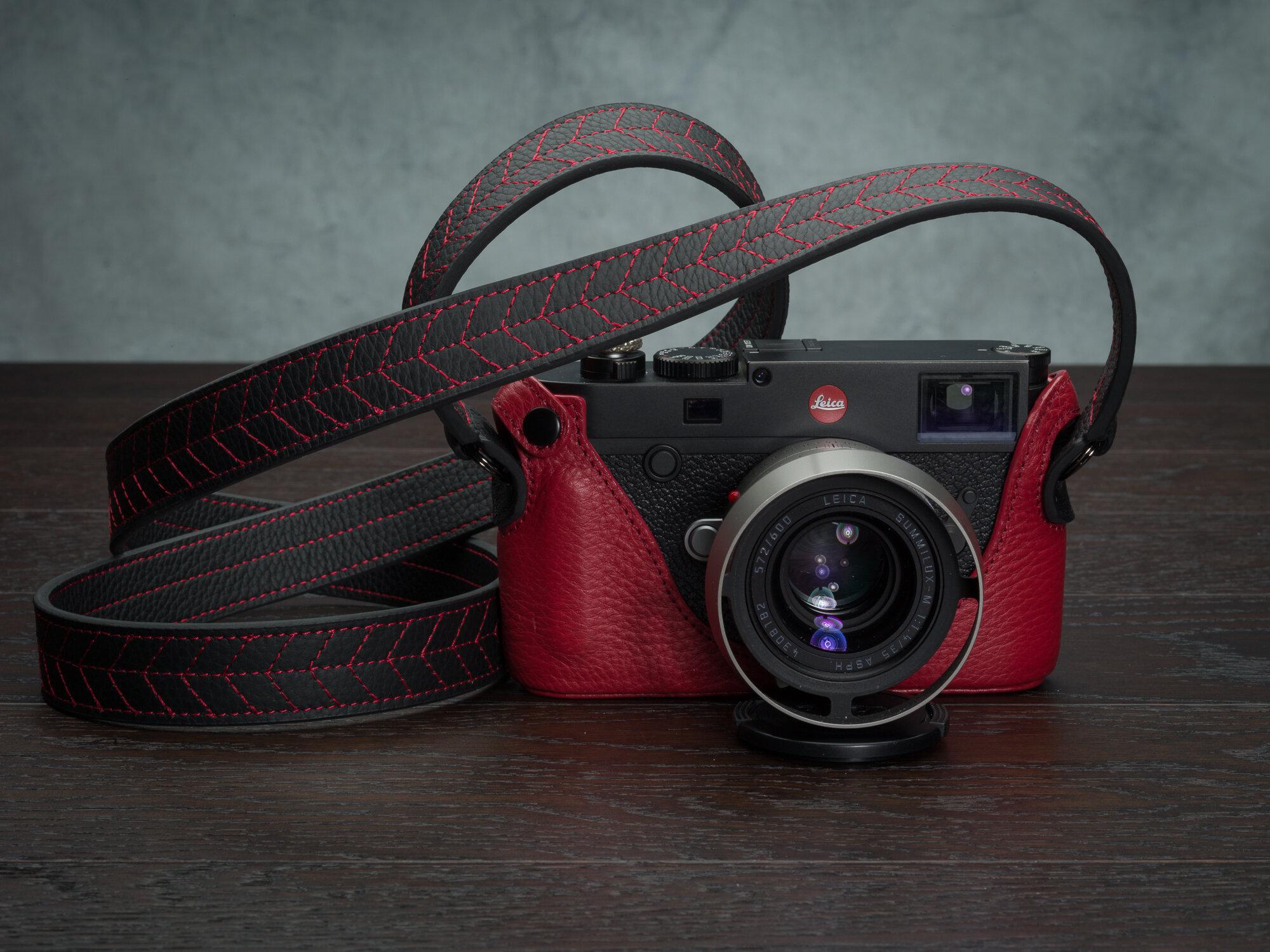 Vi Vante Tread Classic Leather Camera Strap Leica M10 7.jpg