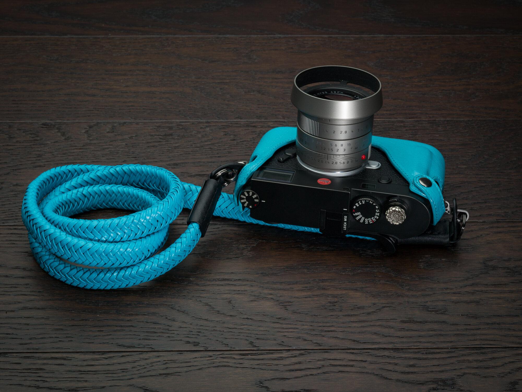 VV Matador miami blue leather camera strap leica m10.jpg