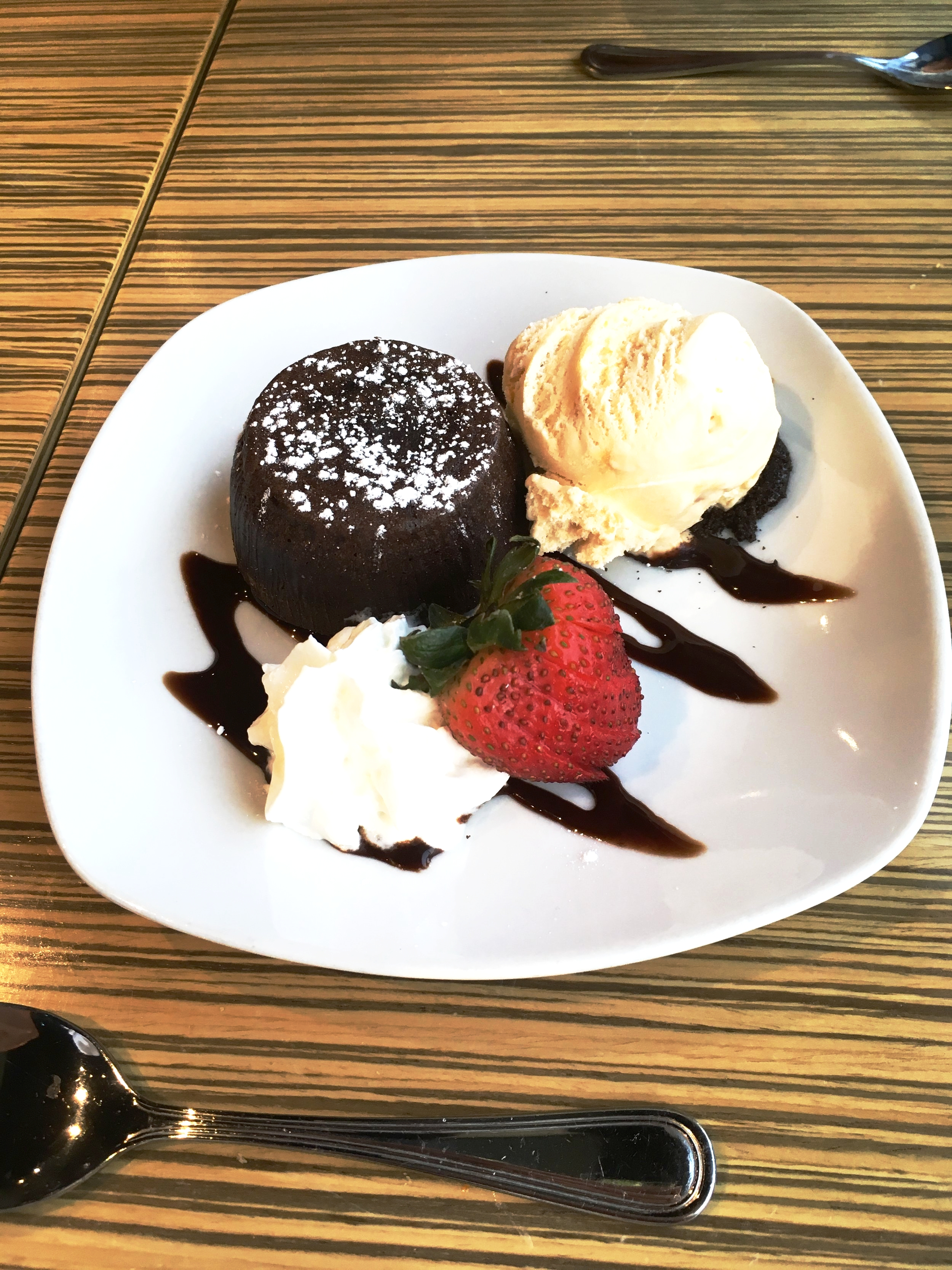 ConnSocials ONLY posts firsthand photos. So yes, this IS the actual lava cake. /drools.