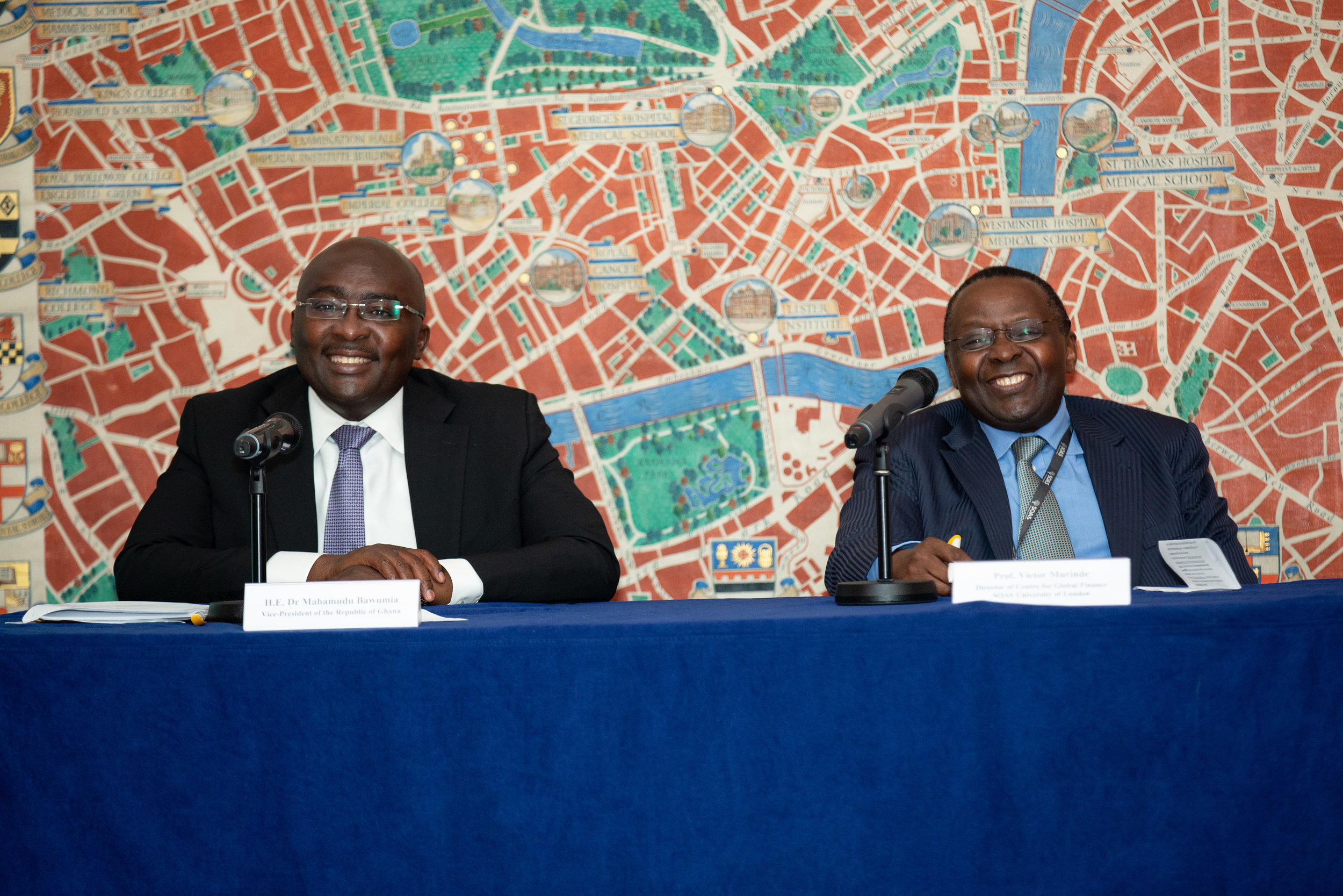 H.E. Dr Mahamudu Bawumia (left) and Prof Victor Murinde (right)
