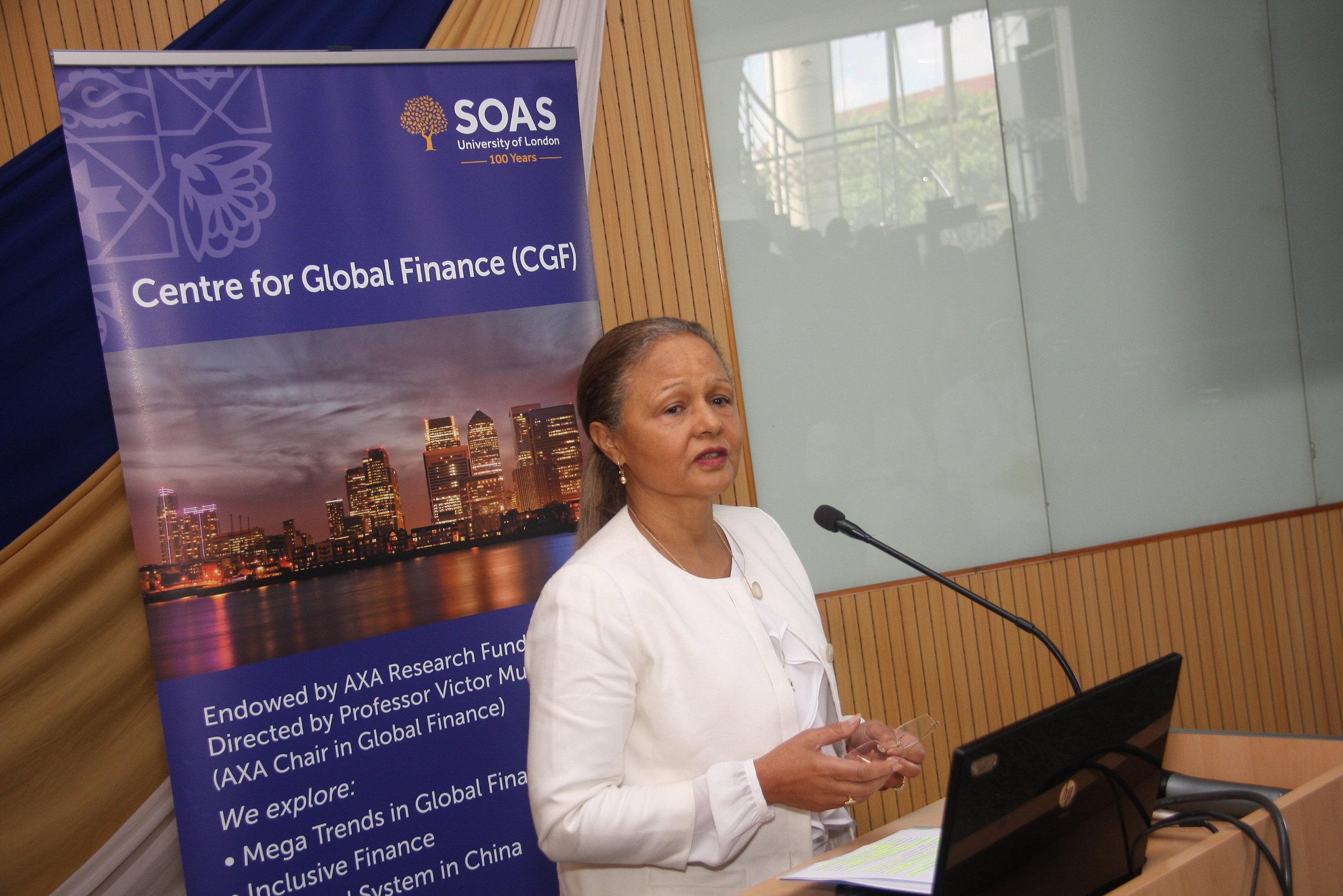 Mrs Sheila M'Mbijjewe, Deputy Governor of CBK
