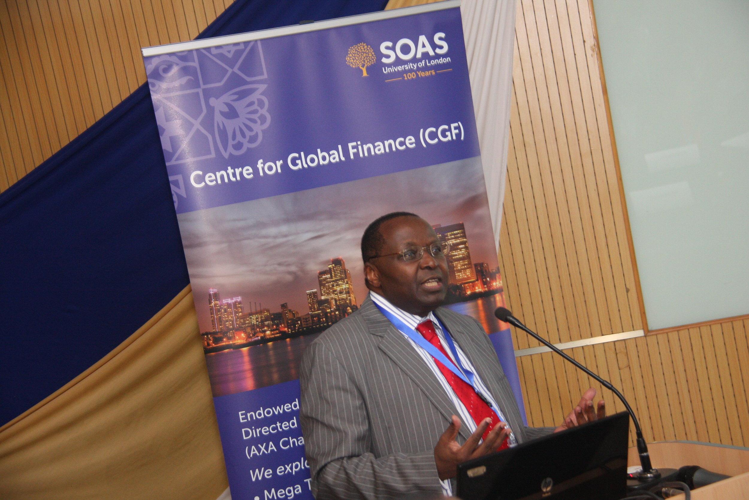 Professor Victor Murinde, Director of Centre for Global Fiance
