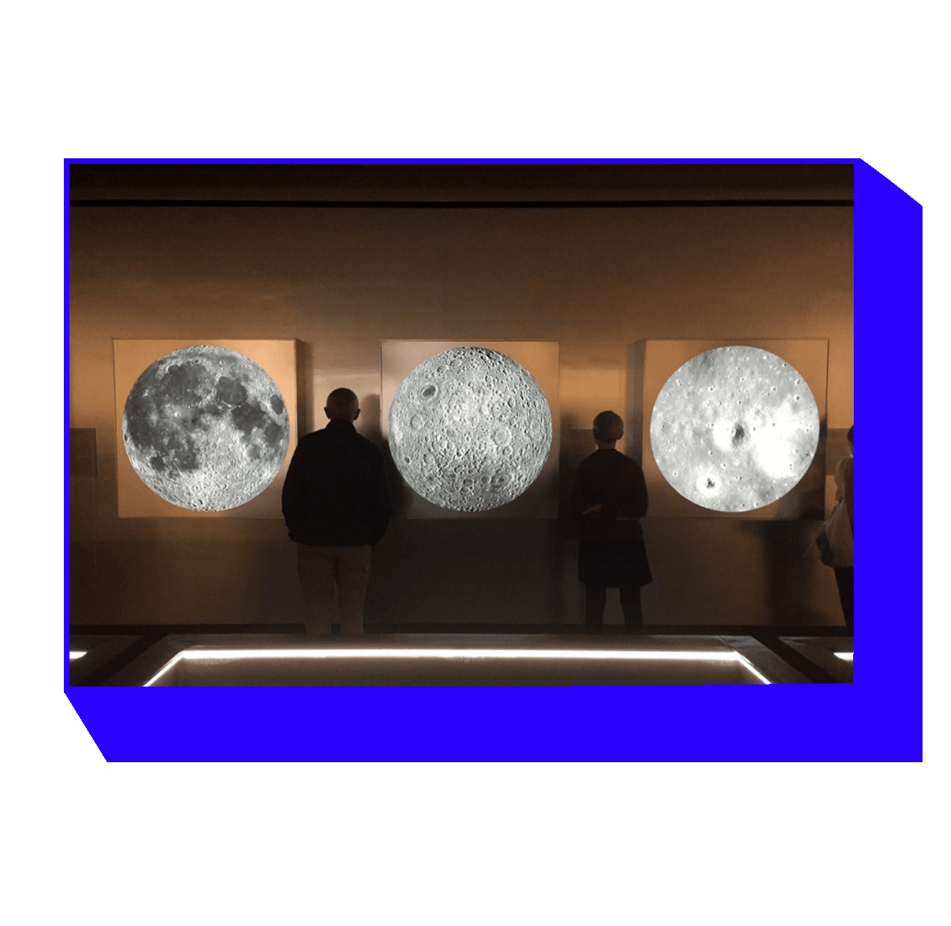 NASA photos from The Moon exhibition. Louisiana Museum of Modern Art, Humlebæk. 2018.