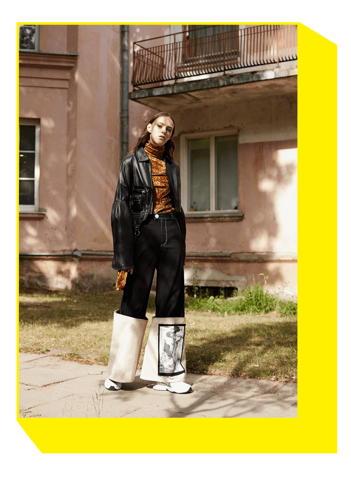 jacket, trousers URTE KATILIUTE; blouse D.EFECT; accessories GINGER TAIL; shoes belong to the stylist