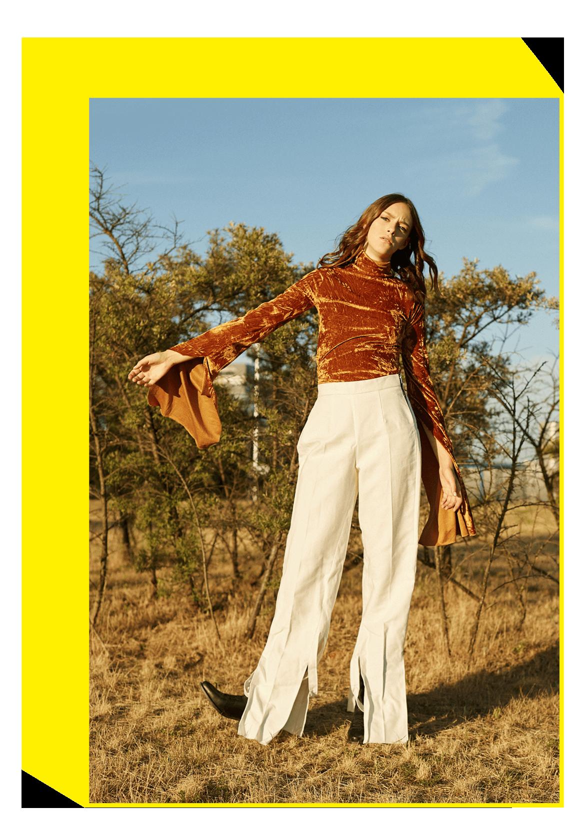 blouse D.EFECT; trousers URTE KATILIUTE; shoes VINTAGE