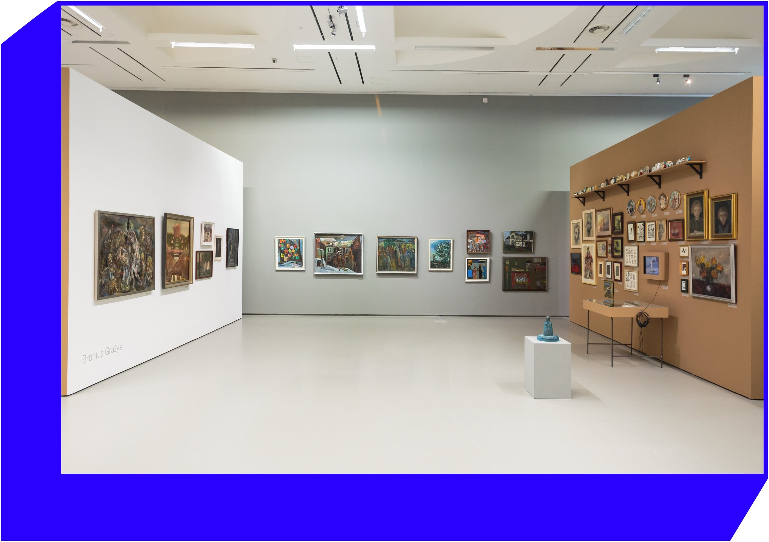 Exposition of Bronius Gražys collection at the exhibition  Silent Collections. Privately Owned Lithuanian and Estonian Art from the Second Half of the 20th Century.  Photo   by Tomas Kapočius.