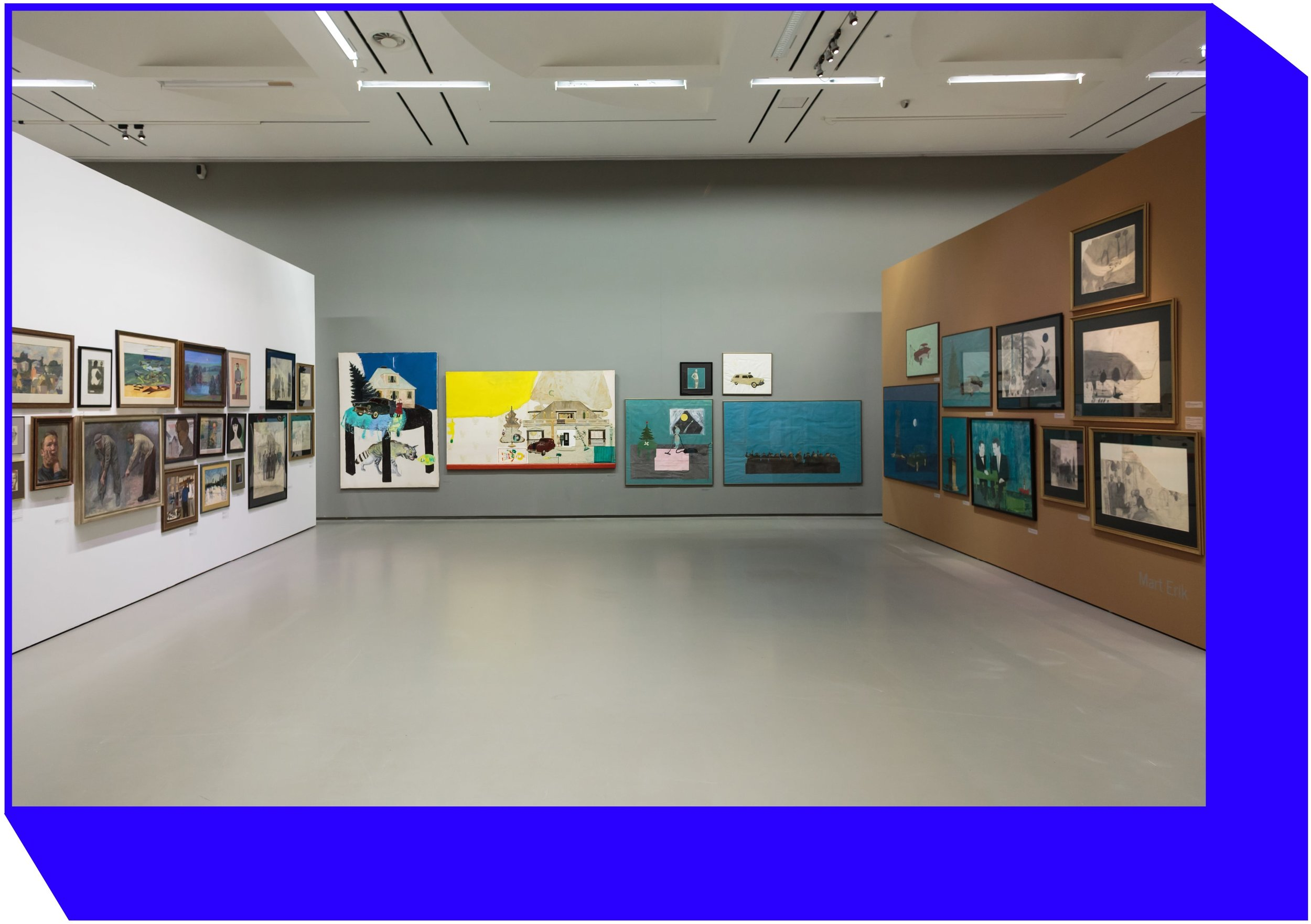 Exposition of Mart Erik collection at the exhibition  Silent Collections. Privately Owned Lithuanian and Estonian Art from the Second Half of the 20th Century.  Photo   by Tomas Kapočius.