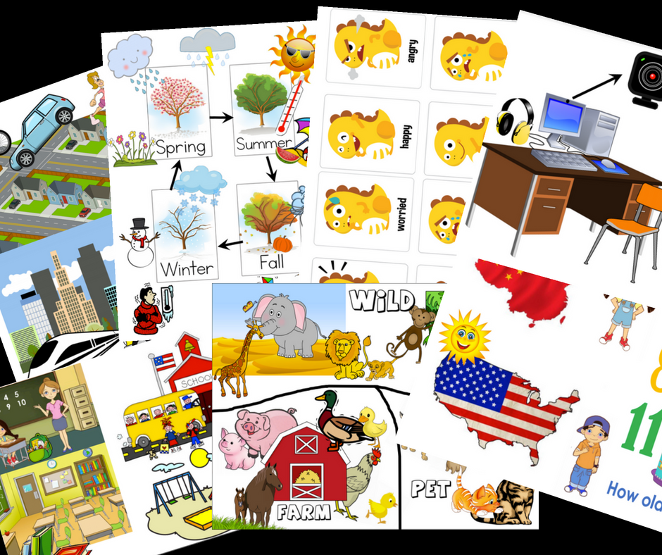 LEVEL 2 STARTER PROPS (CLIPART) - CLICK BELOW TO GO TO GOOGLE DRIVE PDF DOCUMENT (DOWNLOAD AND PRINT) CUT OUT IMAGES, OR LEAVE AS WHOLE PAGES FOR EASY TRAVEL