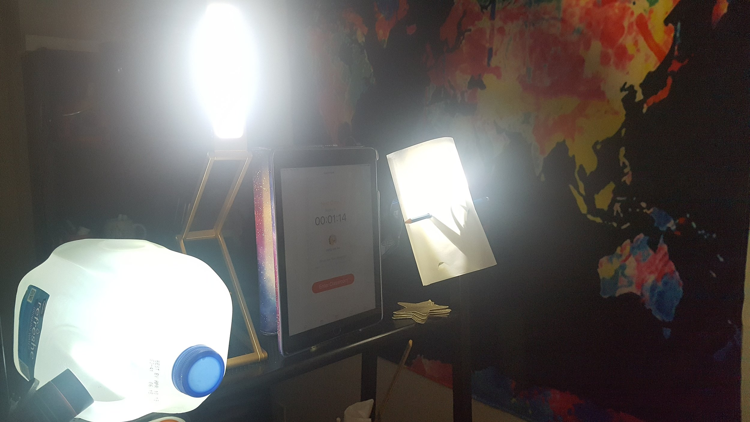 Back Up lighting to teach VIPKid in a power outage