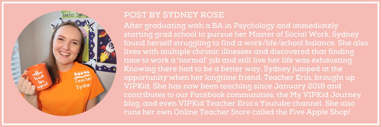 VIPKid Teacher Sydney -Bio