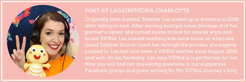VIPKid Teacher Las -Bio