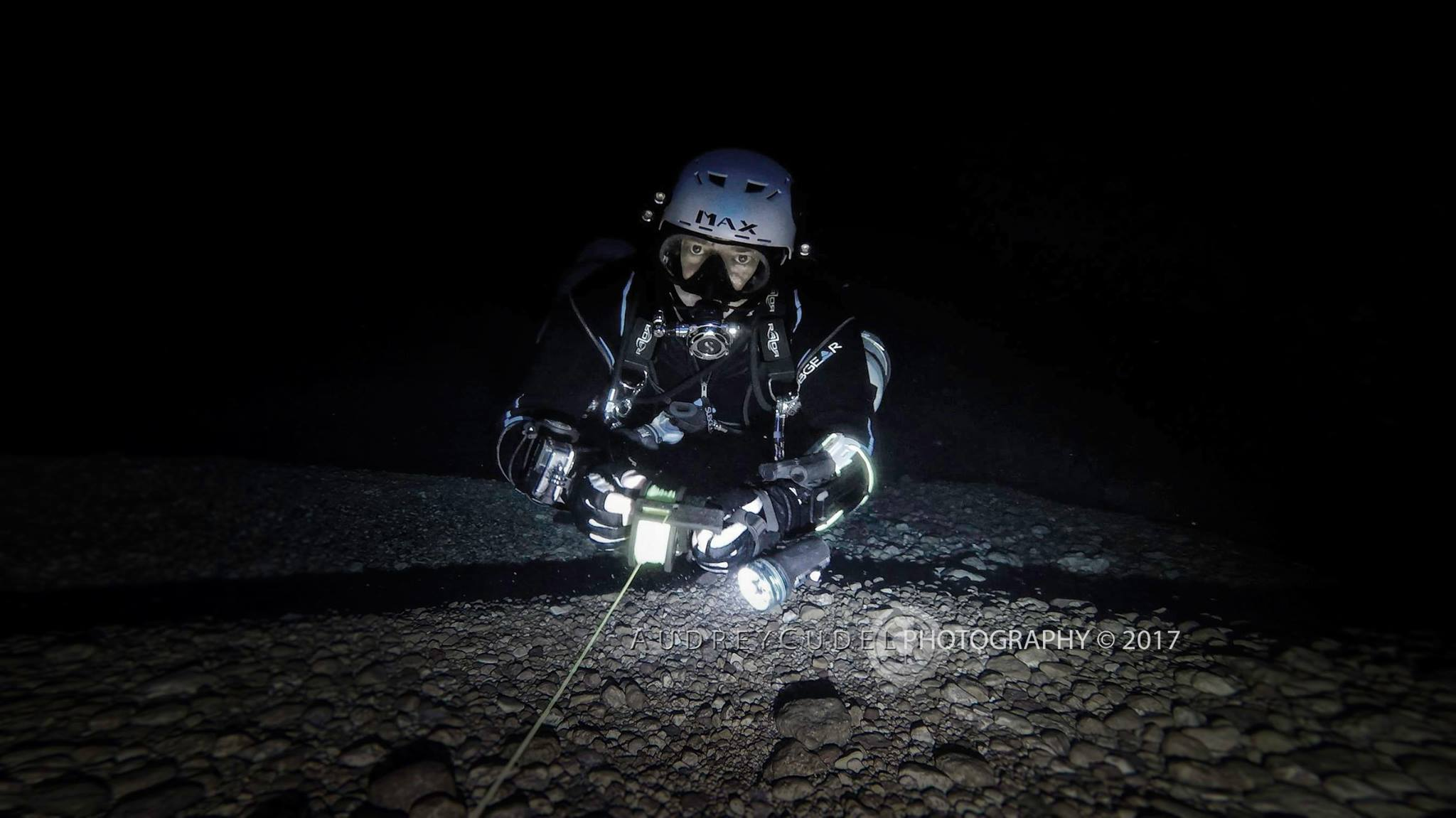 - Max (Tech Diver) TechSM & Full Cave refresher, 2016'Audrey Cudel's beautiful pictures of sidemount- wreck and cavedivers made me come to gozo to meet her in person and learn from her. Being away from tech-diving for a while I did not only learn how to properly dive sidemount. She also boosted my interest in making better underwatervideos, training harder for my goals and getting more confident in tight spaces again. Seing her pictures and videos makes me feel like being with her , they are pieces of art and one can feel the presence of a great diver.Like always great people are a magnet for other great people and so I made friends there with great attitude and wisdom.I owe her one of the most peaceful dives in a cave I ever had and I also owe her a lot of loughs during my stays there. Can't wait to come back ! ps : hard to keep it short, could go on writing for a while ;-)