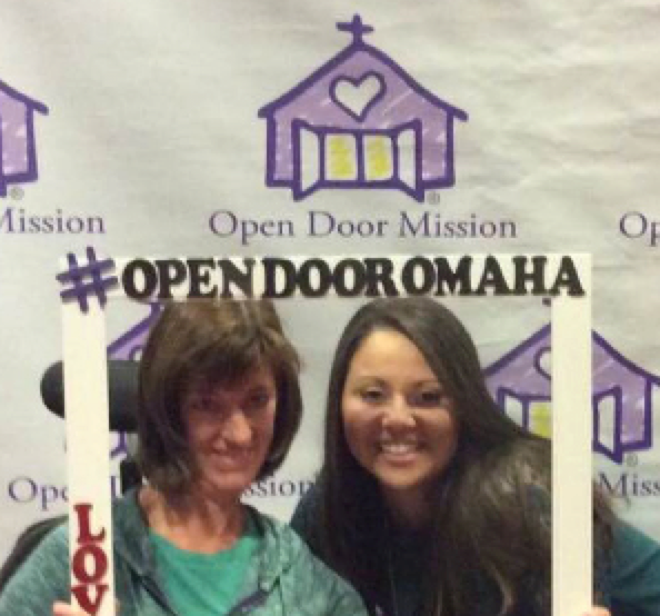 Melissa Niles with Missions Pastor Victoria Leuthold