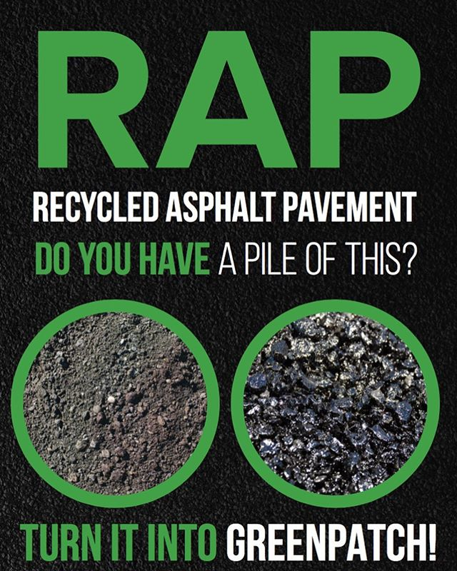 Do you have a big pile of RAP in your yard and want to learn how you can turn it into 💰?? Ask us how you can use your RAP to make our no voc high performance cold patch. Message us!