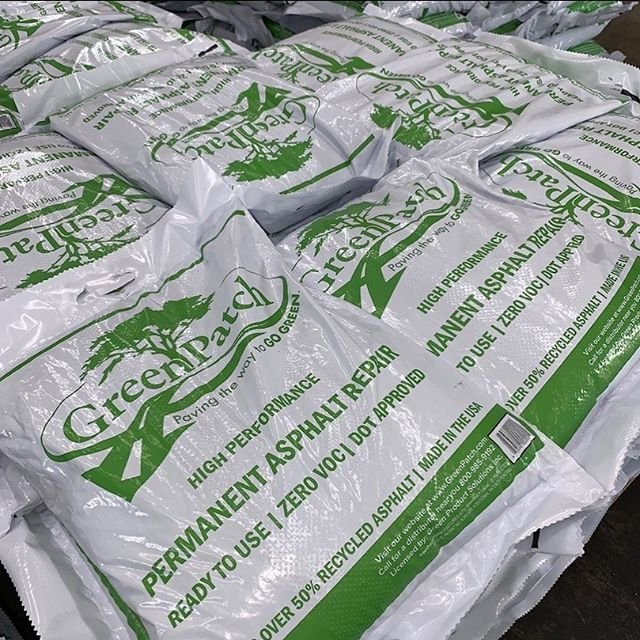 Pallets of GreenPatch heading out today to keep our roads smooth and our environment clean 💪🏻 The most trusted high performance cold patch on the market.