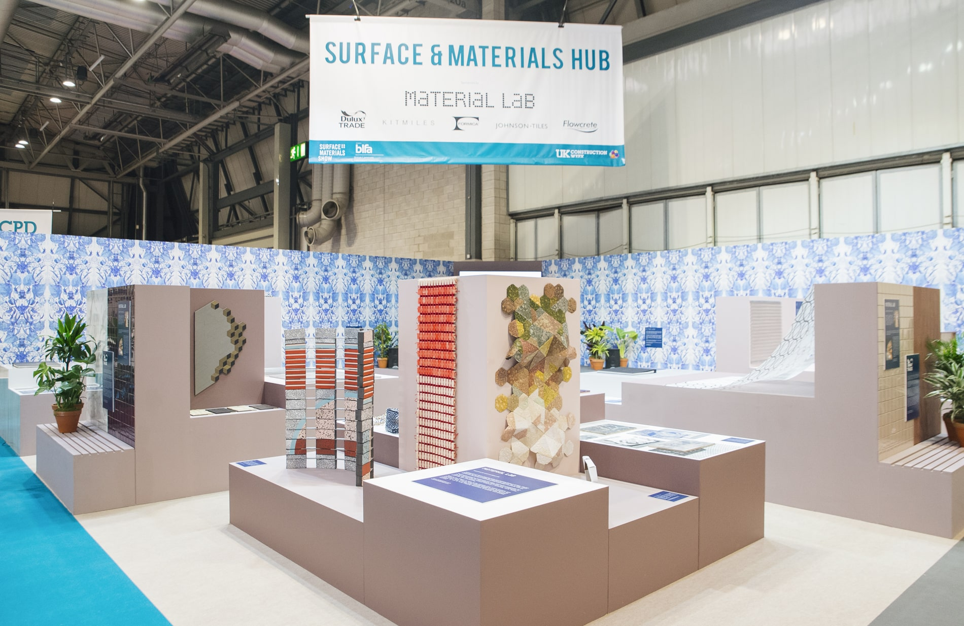 Surface & Materials hub   Exhibition design and material curation for one of the UK's leading design trade shows.