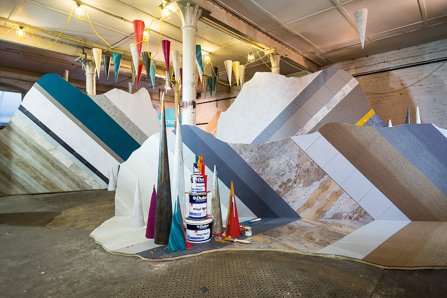 Fundamentals   An exhibition exploring the key elements behind leading commercial material manufacturers including Karndean, Tektura and Dulux Trade.