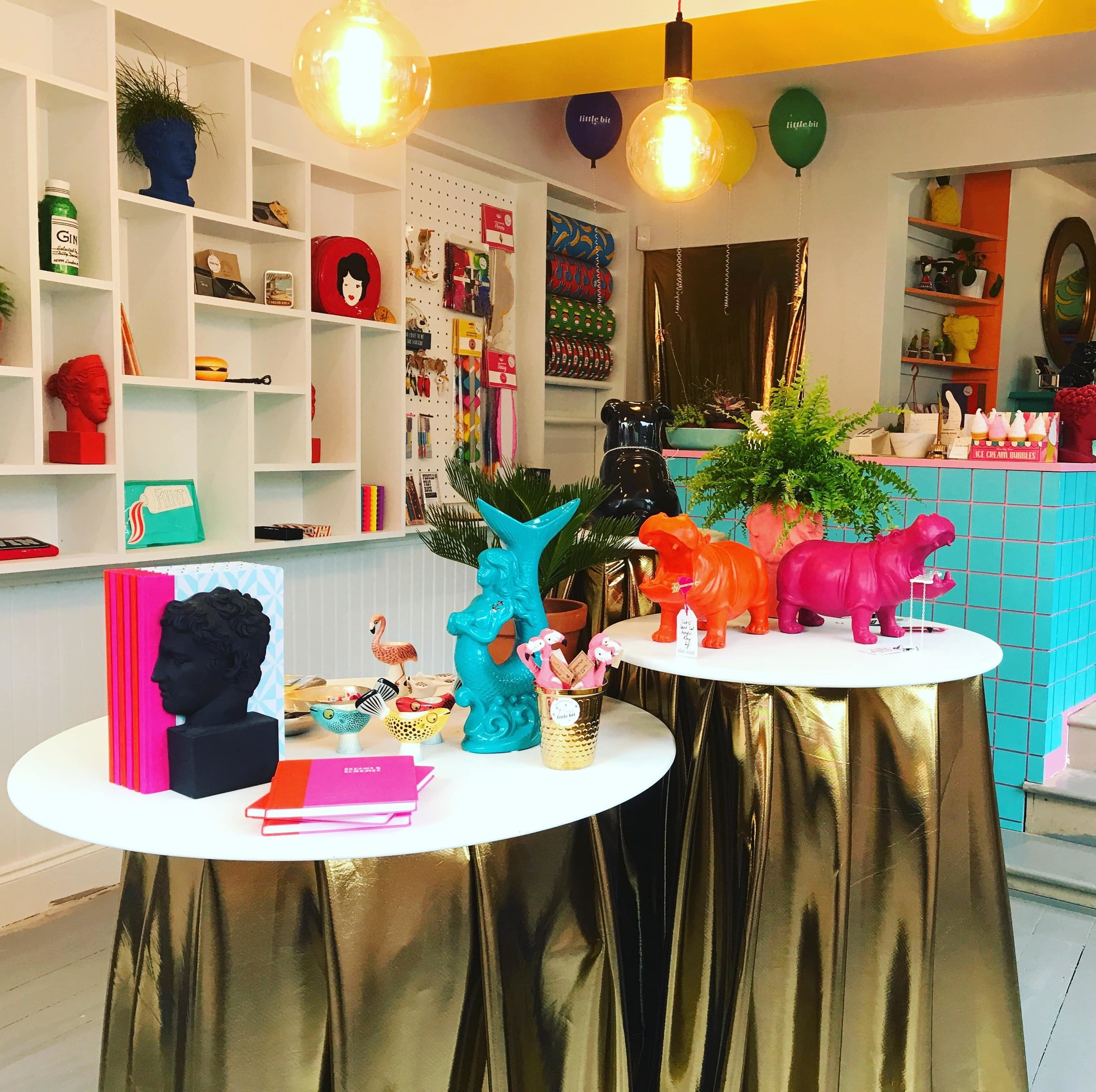Little Bit   Interior Design for a shop whose brief is to spread joy. A complete refit created with fun in mind.