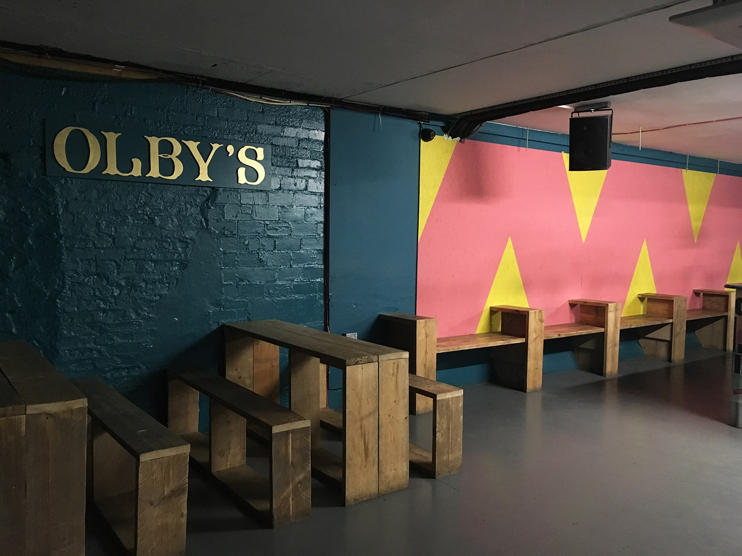 Olby's Music Rooms  A full face lift for Margate's legendary subterranean club and music venue. Inspired by the Caribbean to get you moving on the dance floor.