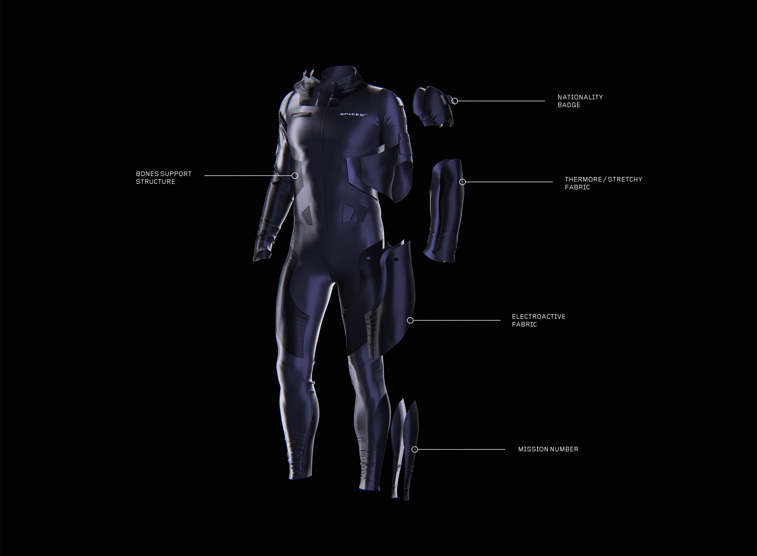 SpaceX suit construction