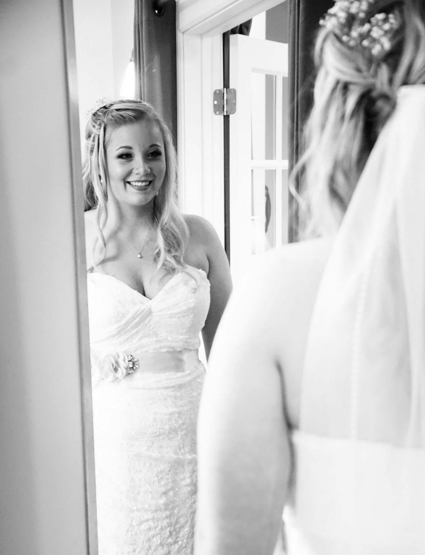 Your Makeup Artist will provide you with two different wedding day looks at your trial appointment, and will meet you on location the day of your wedding to complete the look of your choice! Your artist will ensure your makeup is set and ready to go for your big day! Your look will include a full application of makeup and strip false lashes, although I do recommend brides purchase mink lashes to use for their trial run and wedding day, for a soft, dramatic look. I also recommend brides purchase their own lip product for reapplication, but I will happily apply the lip product from my kit that completes your look!