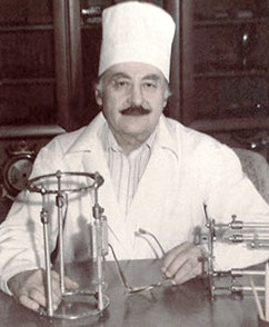 Nope. Not Chef Boy-Ar-Dee. This is Dr. Ilizarov and his ingenious invention.