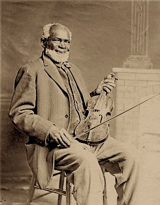 Louis Southworth  came to Oregon in 1853 as a slave. His master left for California but Louis amassed enough money from playing his violin to purchase his freedom. Despite the Exclusion Laws, he lived in the Alsea Valley where he owned a mill and ferried people across the river.  Photo courtesy of Oregon Encyclopedia.