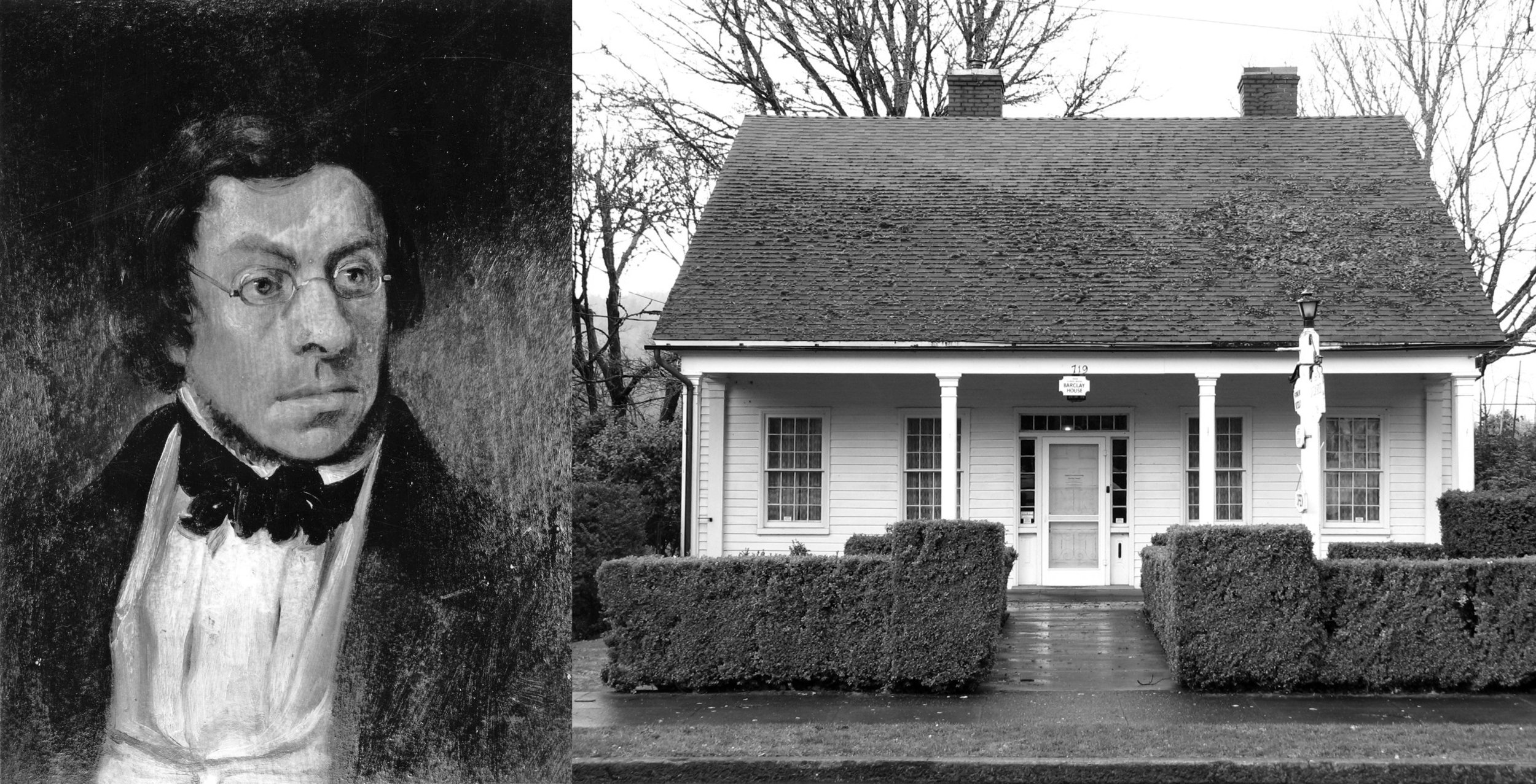 Dr. Forbes Barclay  of Oregon City and the house built for him by John L. Morrison. Unfortunately, I could not find a single photo of Morrison! At least his handiwork remains.