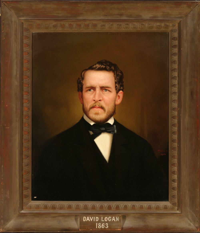 Portrait of David Logan,  courtesy Oregon Historical Society
