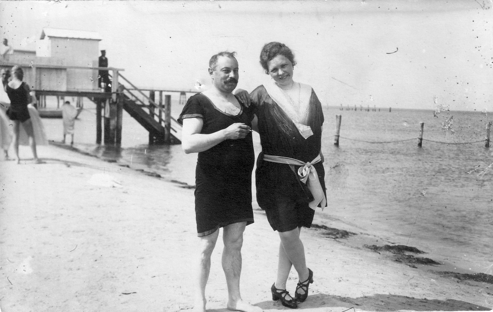 Mama and Papa (Willy and Gertrüd Stern) at the beach - probably at the North Sea. My grandmother is stylin'. Look at those shoes! This is the only photo I have from 1919.