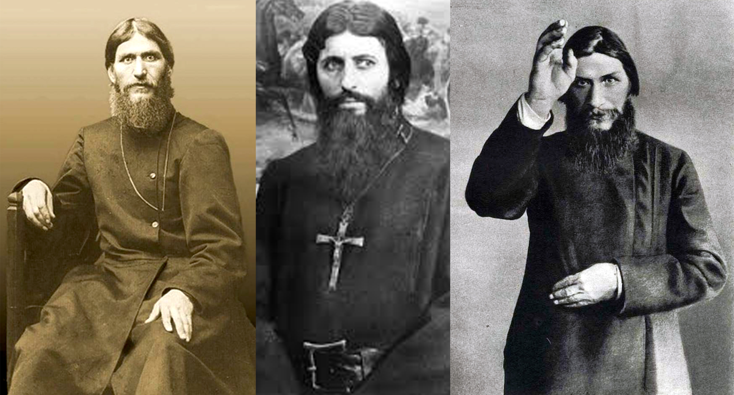 The many faces of Rasputin, a self-proclaimed mystic and healer who had a great deal of influence over Tsar Nicholas II, Russia's last monarch, and his wife, Alexandra. Rasputin was assassinated in 1916. Since the Revolution of 1917, ordinary Germans had developed a fascination with Russian culture, fueled by the influx of the Russian elite into Germany.