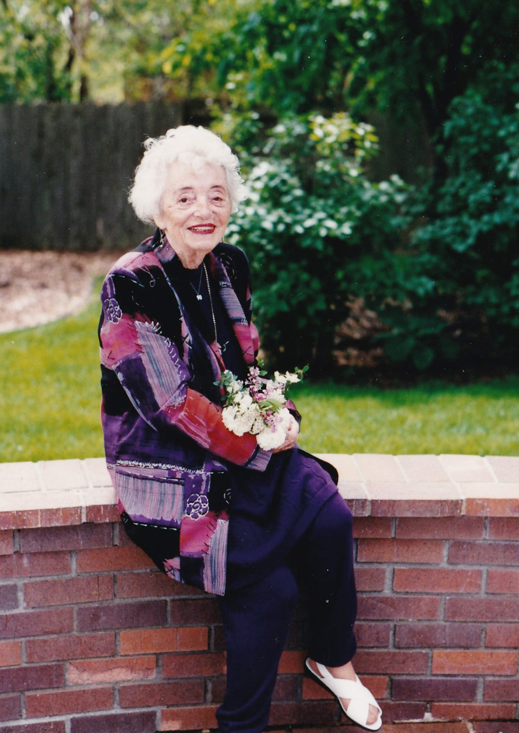 My Mom in 1995, celebrating her 90th birthday - the same year the world commemorated the end of WW2.