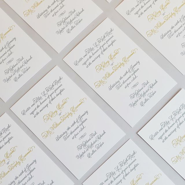 Letterpress + Calligraphy is always a good idea 🙌🏻