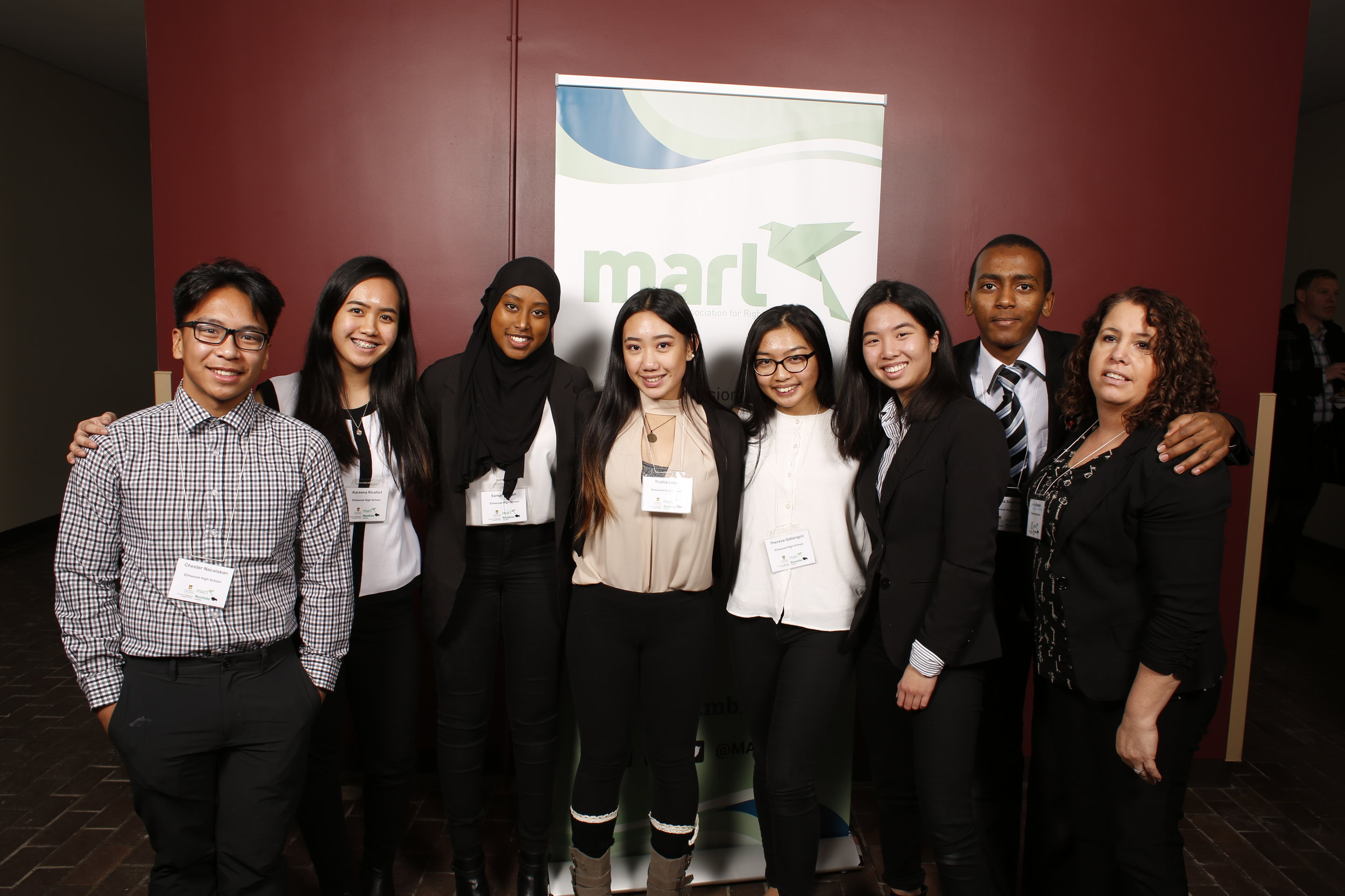 An Ethics Bowl team at the 2018 Manitoba Regional Tournament.