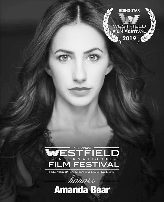 Thank you @westfield_intl_filmfestival for honoring @_amandabear_ as one of your 2019 rising stars! We can't wait to attend the festival - link in bio for tix 🖤