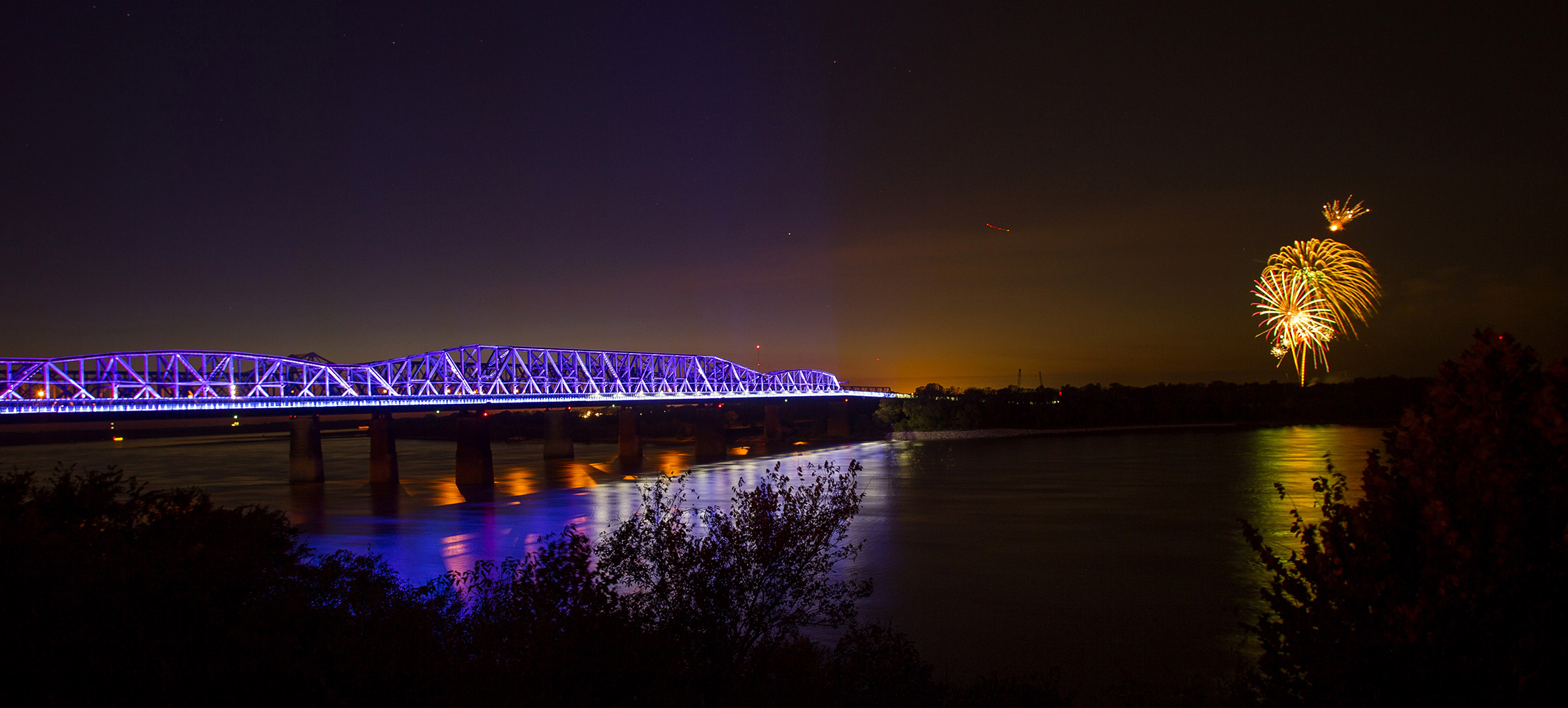 "memphis bridge lighting, inc - MBL is a privately-funded 501(c)(3) established in 2016 to oversee the development, design, installation, branding/communications, maintenance, and ongoing programming for LED light installations on the Harahan Bridge's Big River Crossing and Hernando De Soto Bridge, known locally as ""the M bridge."""